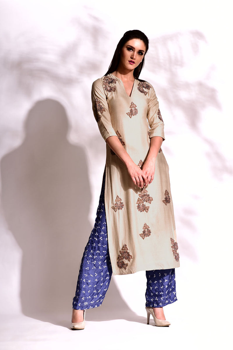 Straight Tunic & Bandhani Pants