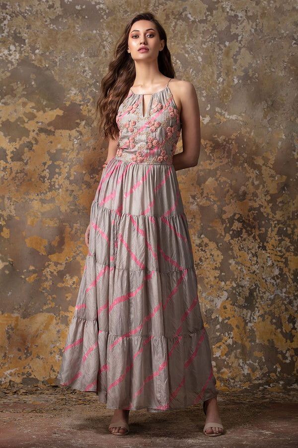 Leheriya Gown | koashee by shubhitaa