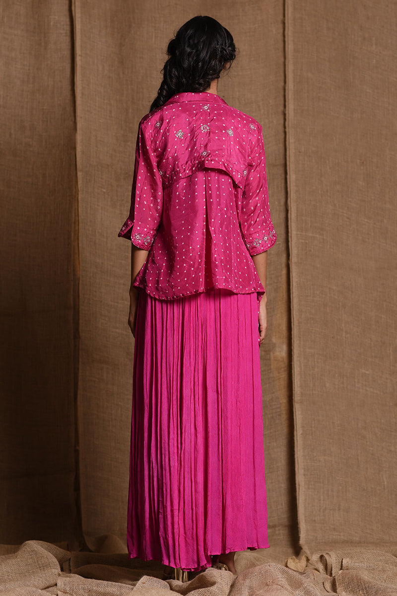 Fuschia Pink Festive co-ord set