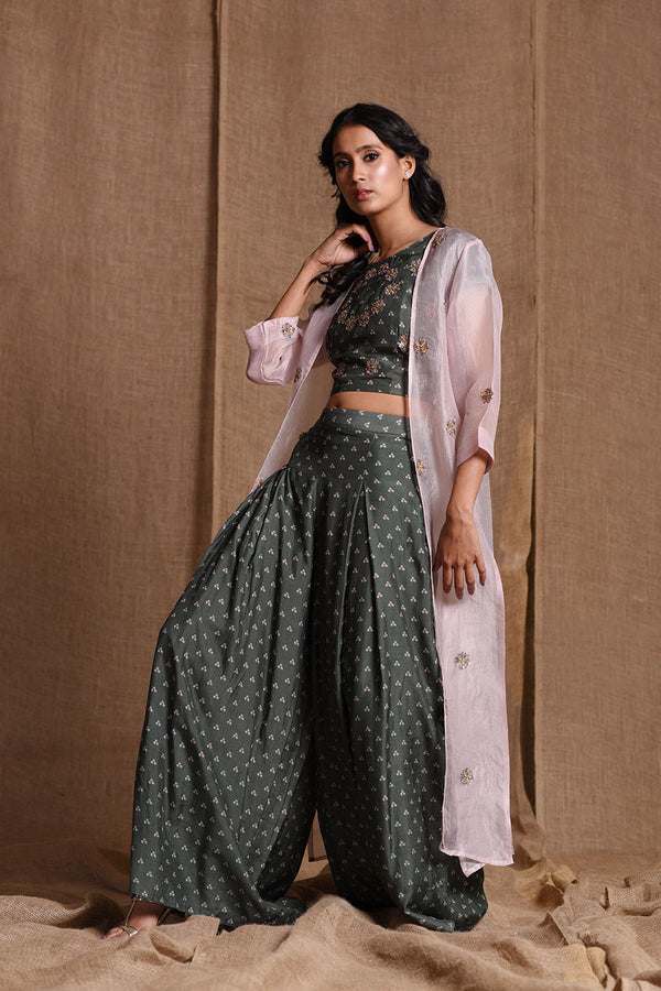 Three piece printed co-ord set | koashee by shubhitaa