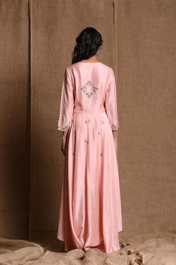 Peach wraparound dress | koashee by shubhitaa