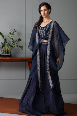 Crop top Lehenga and Cape