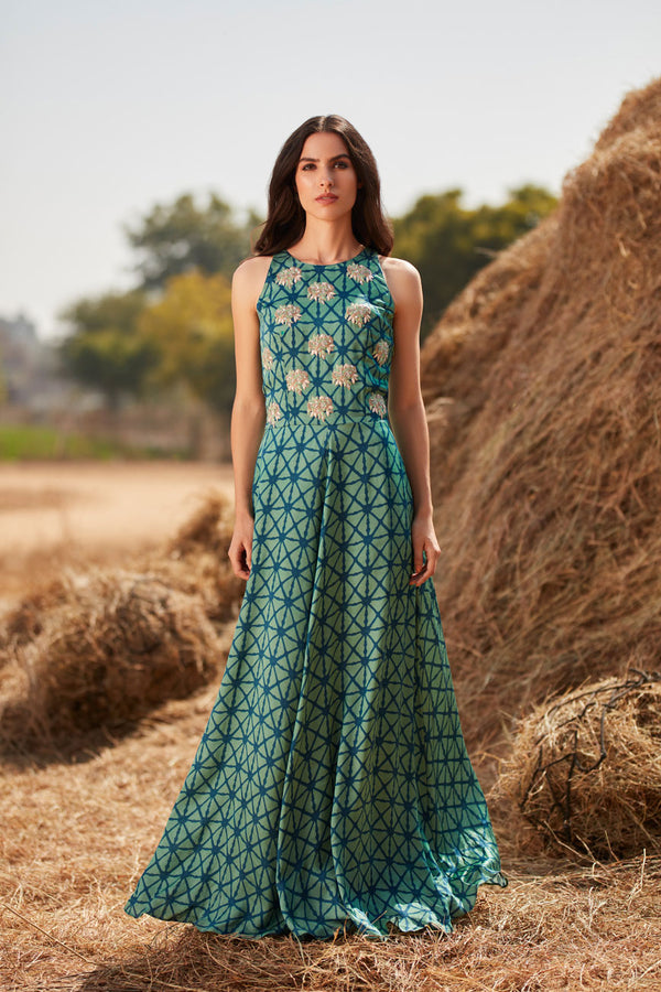 Geometric Gown | koashee by shubhitaa