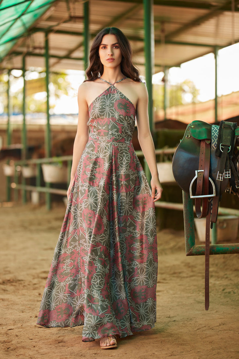 Printed long dress | koashee by shubhitaa