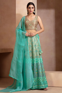 Aqua Signature printed lehenga set
