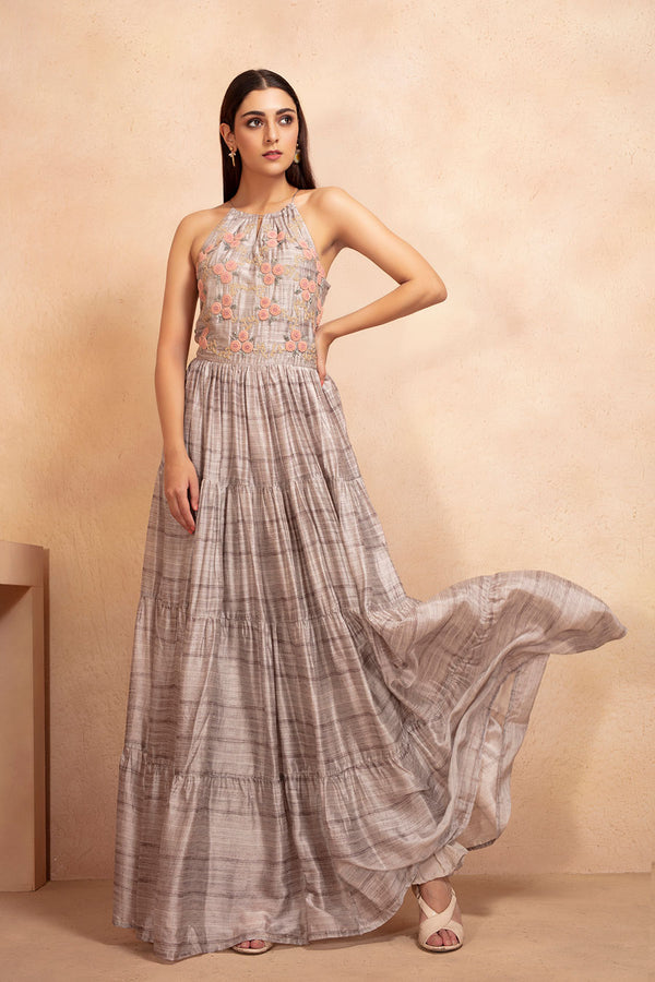 Textured Gown | koashee by shubhitaa