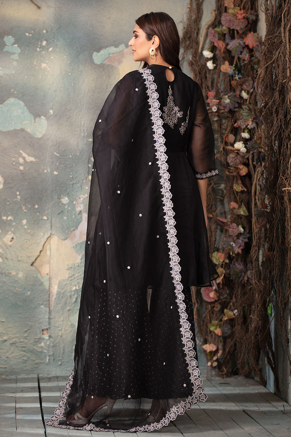 Black bandhani and tunic set