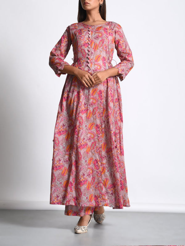 Kurta, Kurta set, Printed, Chanderi silk, Chanderi, Silk, Traditional wear, Traditional outfit, Traditional, Light weight, MTO, DD28