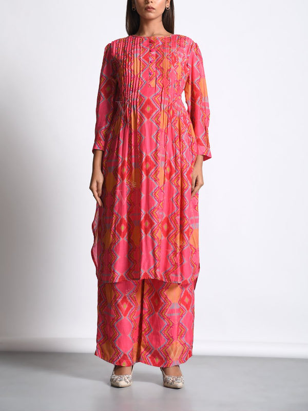 Kurta, Kurta set, Printed, Silk, Vasansi silk Traditional wear, Traditional outfit, Traditional, Light weight, MTO, DD28