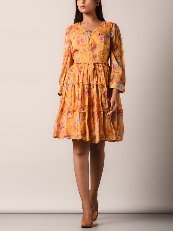 Dress, Dresses, Flowy, Floral, Chiffon, Printed, Light weight, Western, Westerns