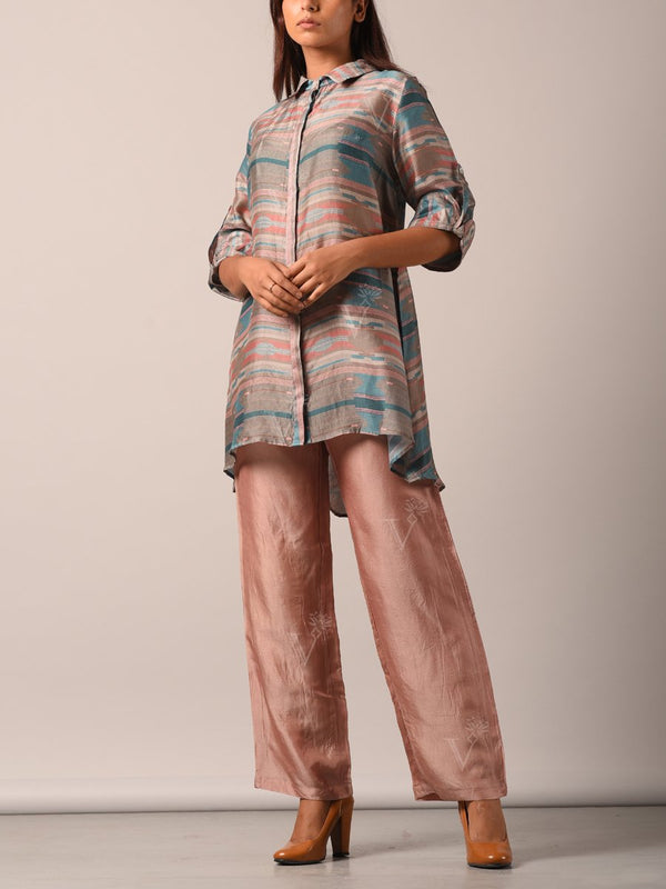 Pant set, Pants, Kurta set, Kurta, Geometrical, Stripes, Fusion wear, Indo western, Silk kurta, Silk pant set. Light weight