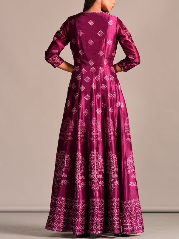 Magenta Long Kali Gown