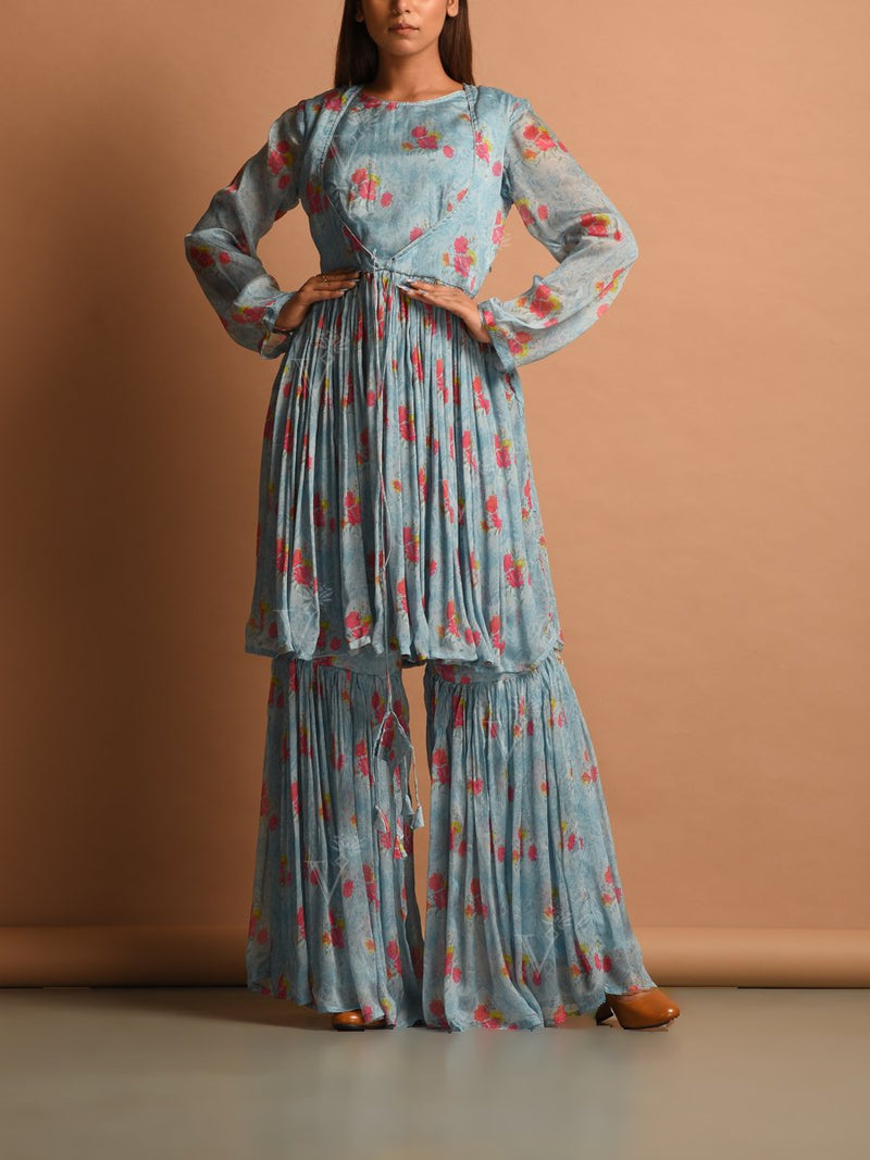 Dress, Dresses, Western, Westerns, Wrinkle chiffon, Chiffon, Printed, Short dress, Printed dress, Casual wear, Summer wear