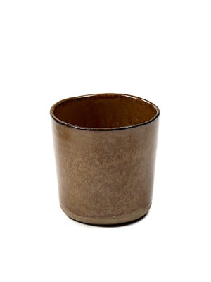 Tasse Merci for Serax No 9 ocre/braun 7,4xH7,3cm
