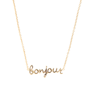 Halskette BONJOUR gold - anikoo Interior and Lifestyle Conceptstore