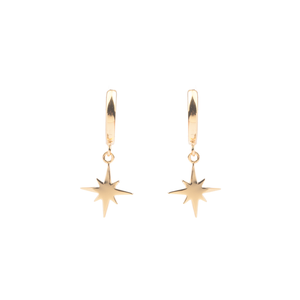 Ohrringe STAR BURST gold hängend - anikoo Interior and Lifestyle Conceptstore