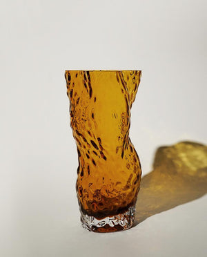 Ostrea ROCK GLASS Vase amber HEIN Studio