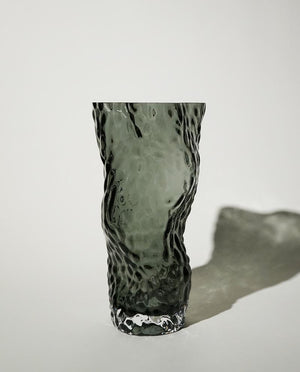 Ostrea ROCK GLASS Vase midnight blue HEIN Studio
