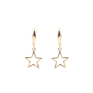 Ohrringe Star gold hängend - anikoo Interior and Lifestyle Conceptstore
