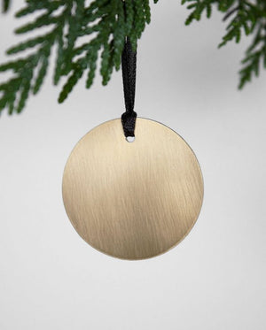 Ornament rund Messing Zwei Design