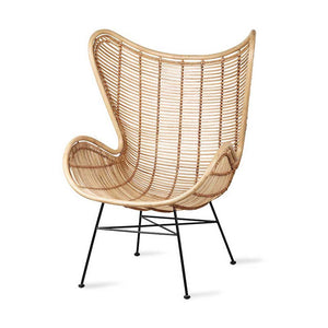 Egg Chair Rattan natur HK Living