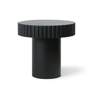 Coffee table pillar rund schwarz