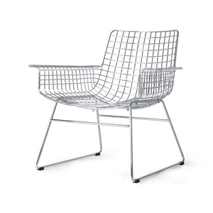 Metall Wire Lounge Sessel silber HK Living