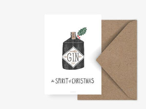 Postkarte Gin The Spirit of christmas - anikoo Interior and Lifestyle Conceptstore