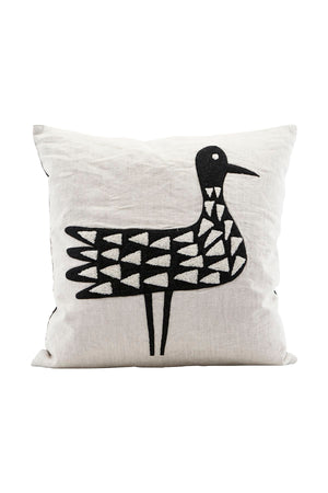 Kissenbezug Bird schwarz/beige House Doctor - anikoo Interior and Lifestyle Conceptstore