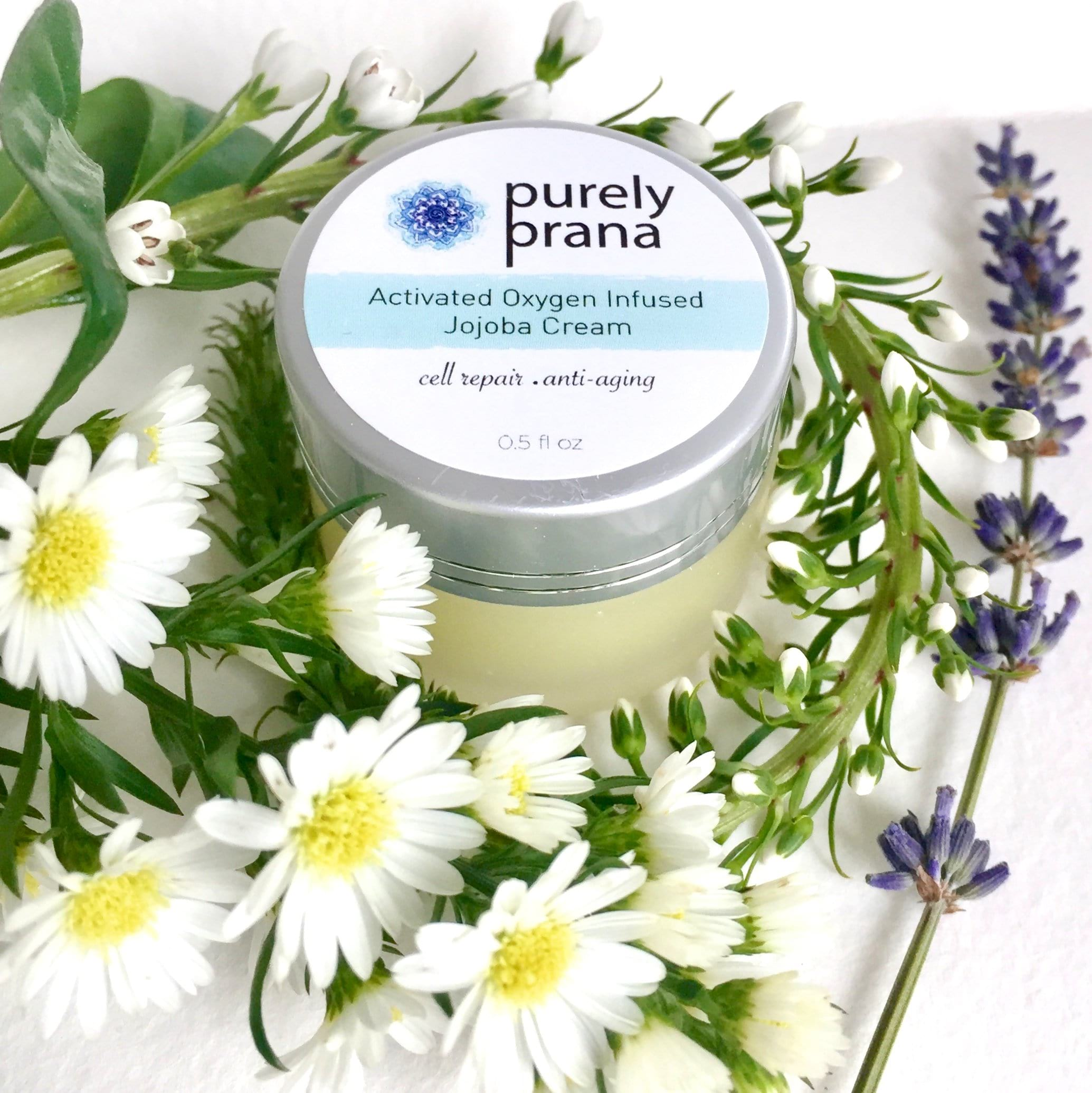 Activated Oxygen Infused Jojoba Cream, purely prana, organic skin care cream, all natural skin care products, all natural skin care brands