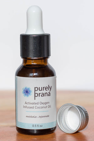 Activated Oxygen infused Coconut Oil, purely prana, coconut oil, organic skin care, organic oils