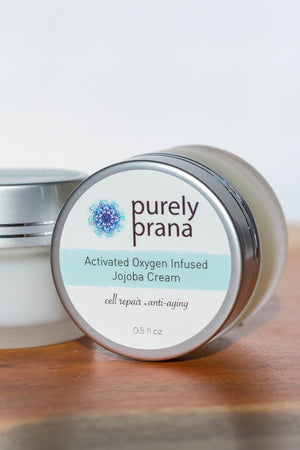 Activated Oxygen Infused Jojoba Cream, purely prana, organic skin care cream, all natural skin care products