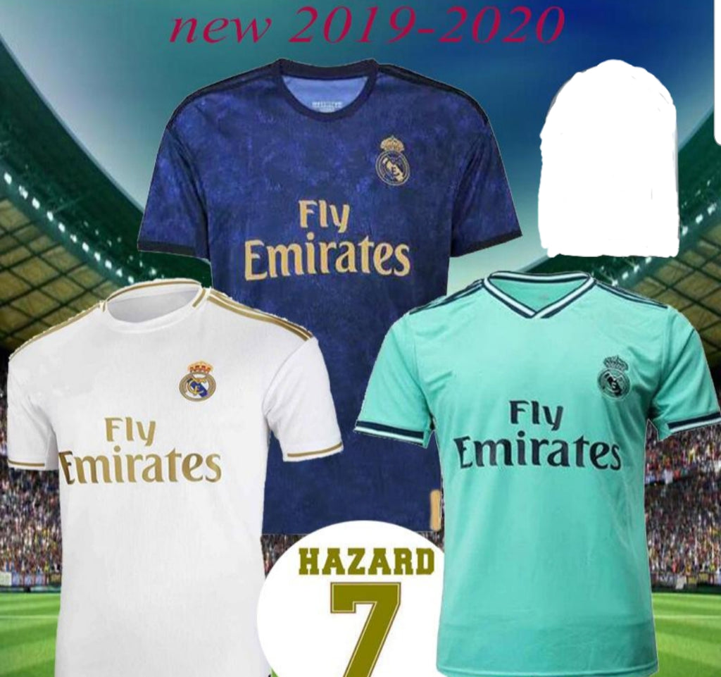 check out f3bb6 017e2 Real Madrid New Home Jersey Men Hazard 2019-2020