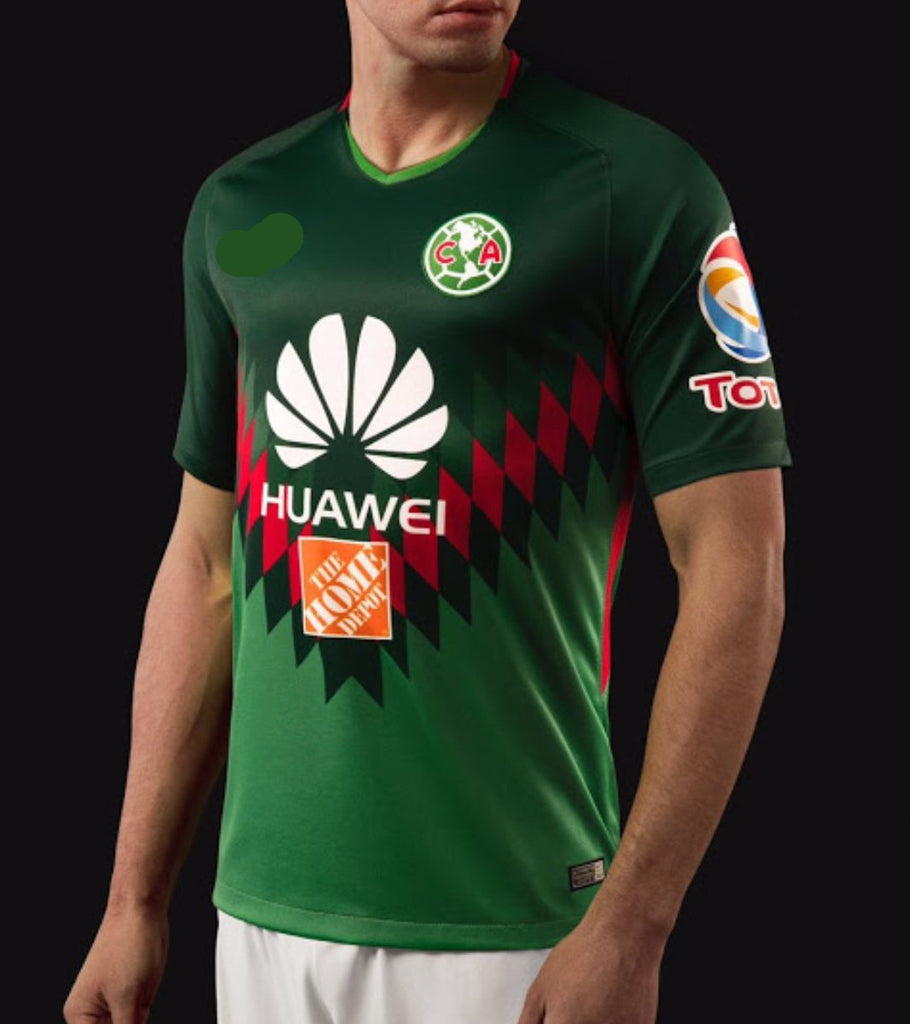 cozy fresh 084a3 50191 Club America Aguilas Men's Green Verde Limited Edition Jersey Regular Fit