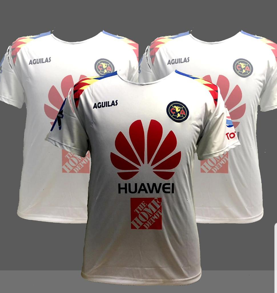 promo code df4ae 48eaa Club America Aguilas Men's Blanco White Home Jersey Regular Fit