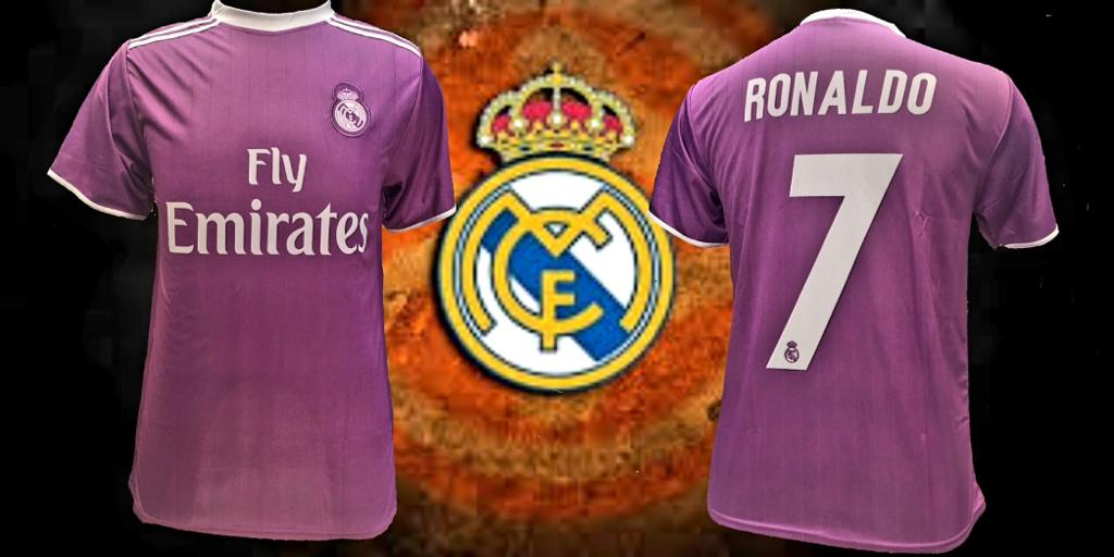 detailed look 45109 fbb93 Real Madrid Purple Ronaldo Away Jersey Men Regular Fit