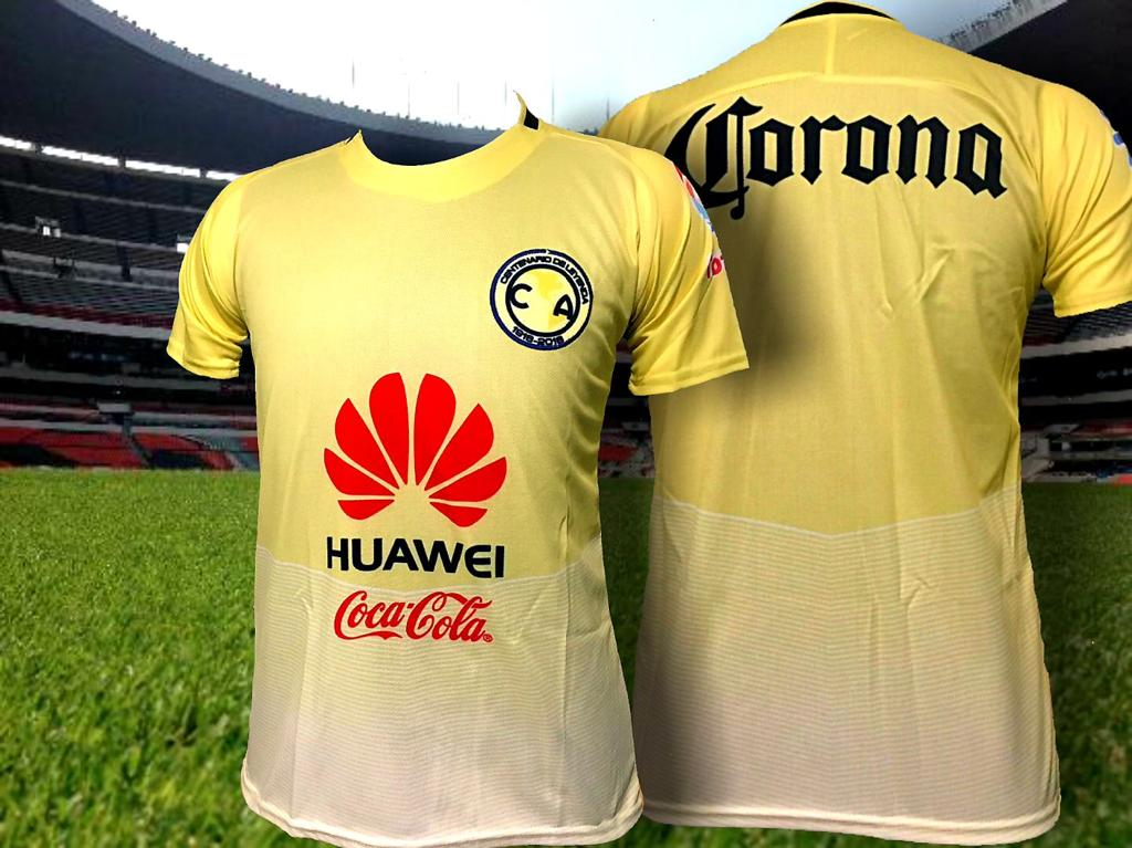 the latest 2496c ded15 Club America Aguilas Men's Amarilla Yellow Home Jersey Regular Fit