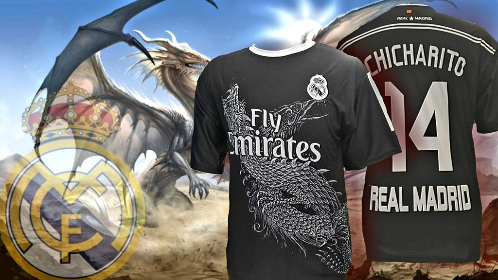 new product 5d50c a2722 Real Madrid Negra Black Chicharito Jersey