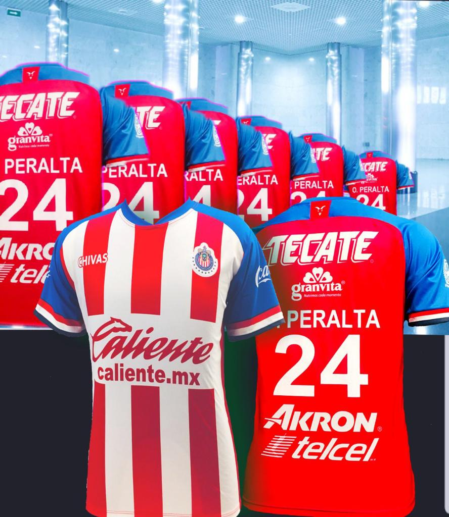 newest 6d2a8 5e42a New Chivas Oribe Peralta Home Jersey Regular Fit 2019-2020
