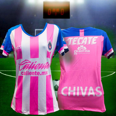 info for c826a 55208 New Woman Chivas Pink Rosa Jersey 2019 Limited Edition