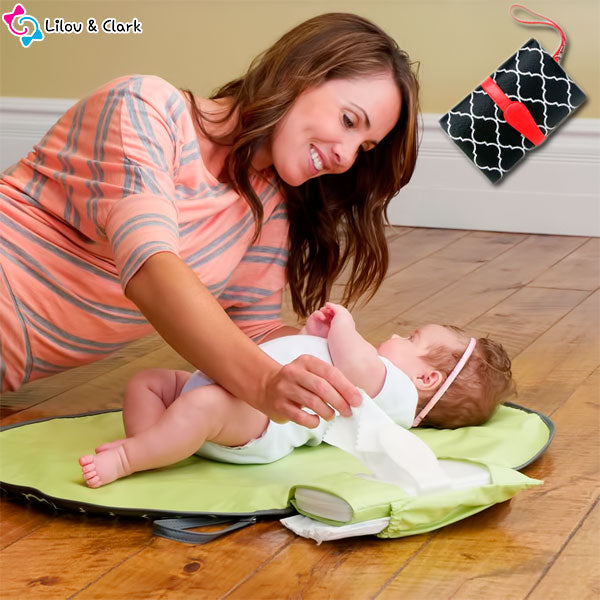 Diaper-n-Go™ Clutch - The Portable Diaper Changing Pad