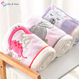 Winter 100% Cotton Baby Animal Wrap Blankets
