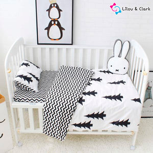 3Pcs Pine Tree Lilou Baby Bedding Set