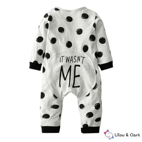 Image of It Wasn't Me Baby Unisex Jumpsuit