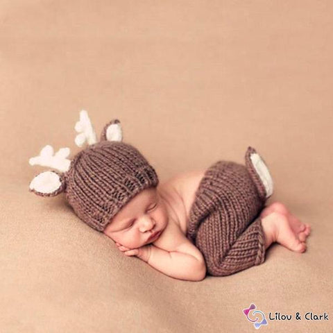 285bfcf6a Super Cute Deer Crochet Baby Set