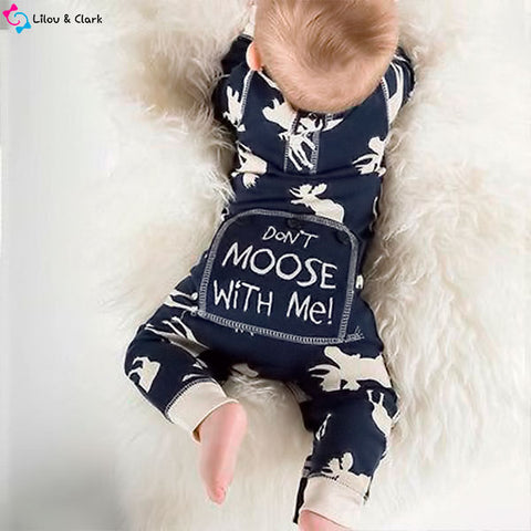 Don't Moose With Me Baby Christmas Jumpsuit