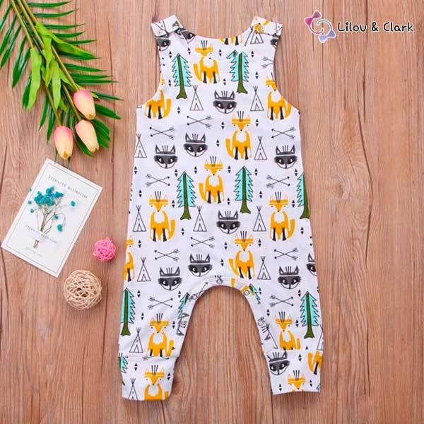Warrior Fox Baby Unisex Summer Jumpsuit
