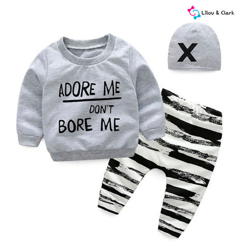 Adore Me 3 Pieces Baby Boy's Set