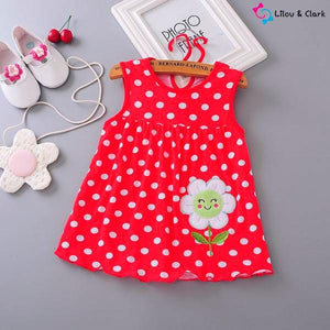 Happy Flower Baby Dress - From Newborn to Toddler