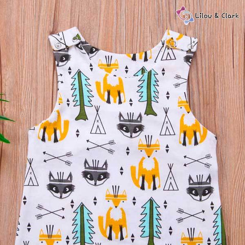 Image of Warrior Fox Baby Unisex Summer Jumpsuit